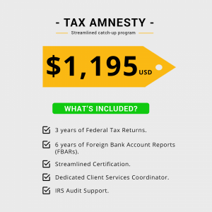 streamlined tax amnesty program