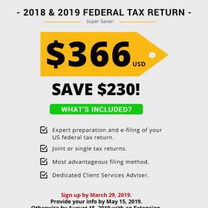 2018 & 2019 Federal Tax Return
