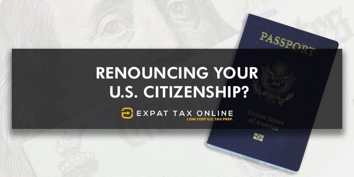 Renounce your US Citizenship