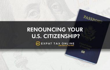 Renounce your US Citizenship