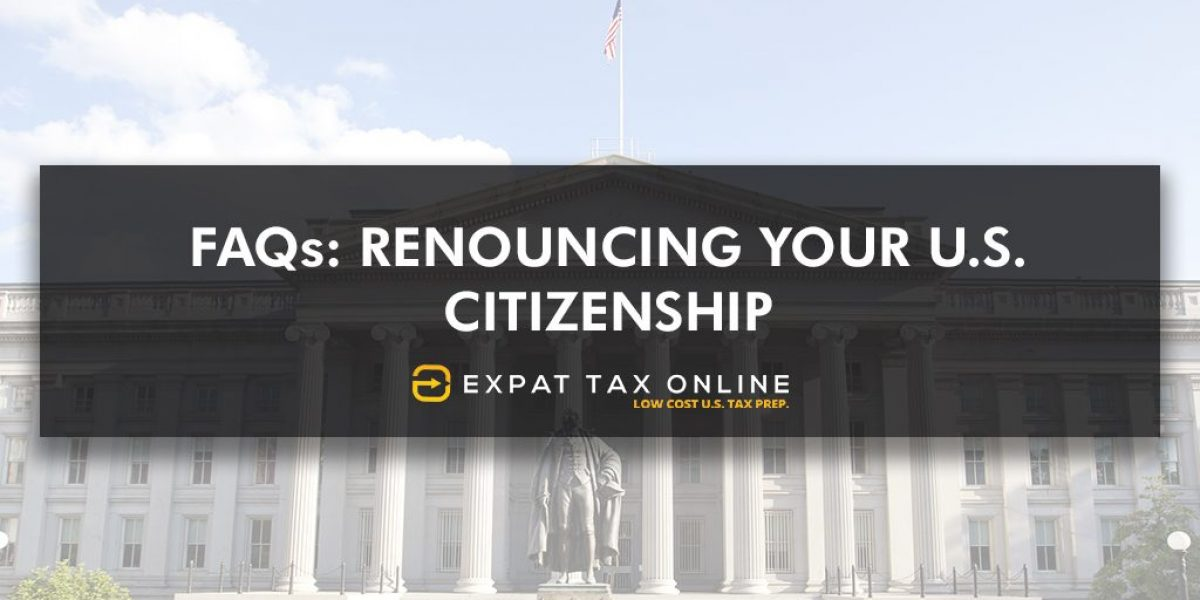 Renouncing your US Citizenship