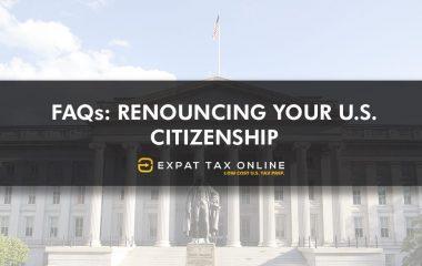 Renouncing your US Citizenship