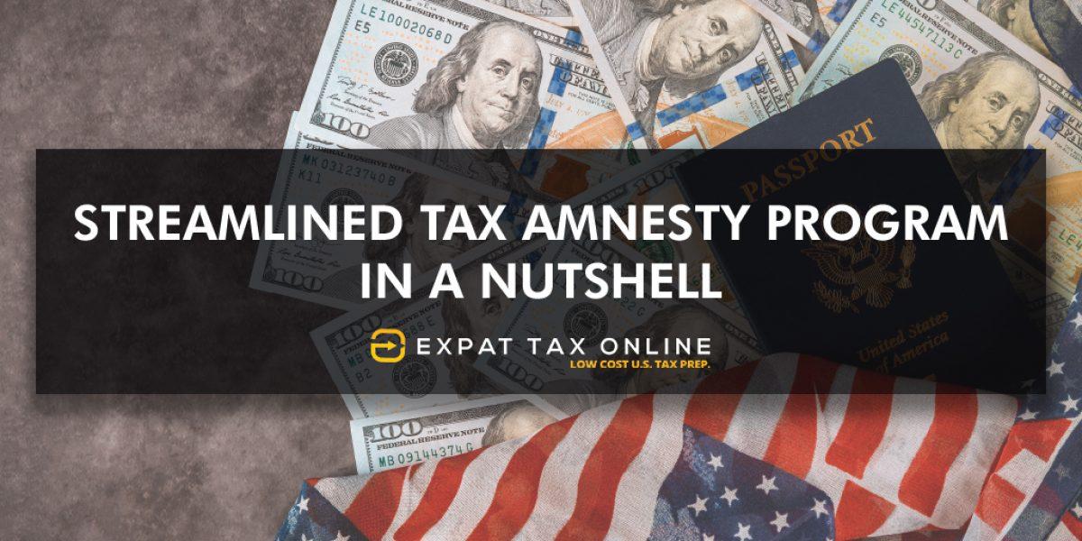 streamlined tax amnesty program blog
