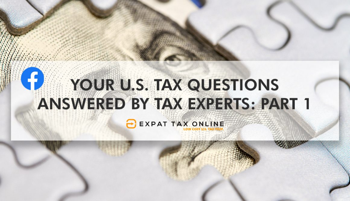 U.S. Tax Questions Answered Part 1