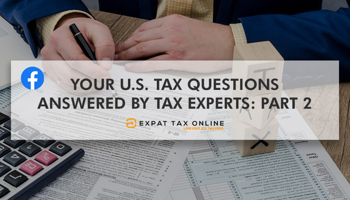 U.S. Tax Questions Answered Part 2